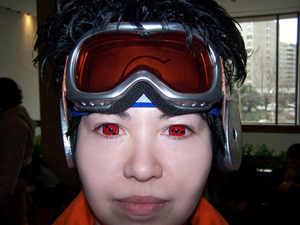 My Obito Cosplay with Sharingan Lenses by 9mm SFX